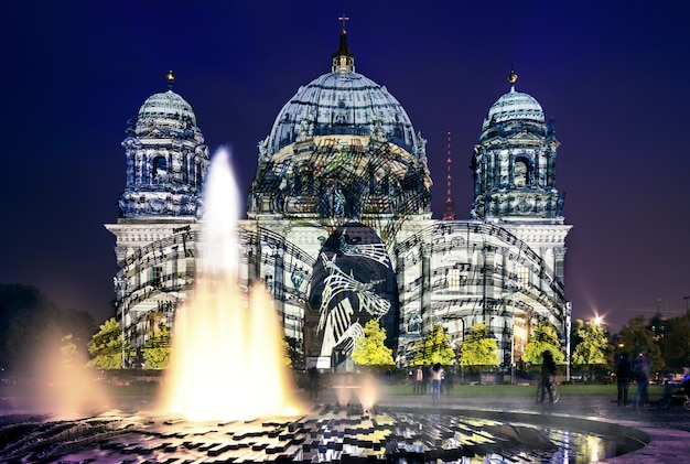 Festiwal świateł w berlinie, katedra berlińska