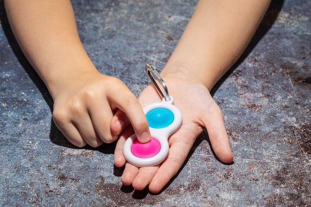 Fidget prosta zabawka do wgłębienia, zabawka sensoryczna dla dzieci, zabawka antystresowa sensoryczna zabawka ręczna dla dzieci dorosłych trening koncentracji