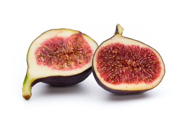 Figi owoce na białym tle witka na tle.