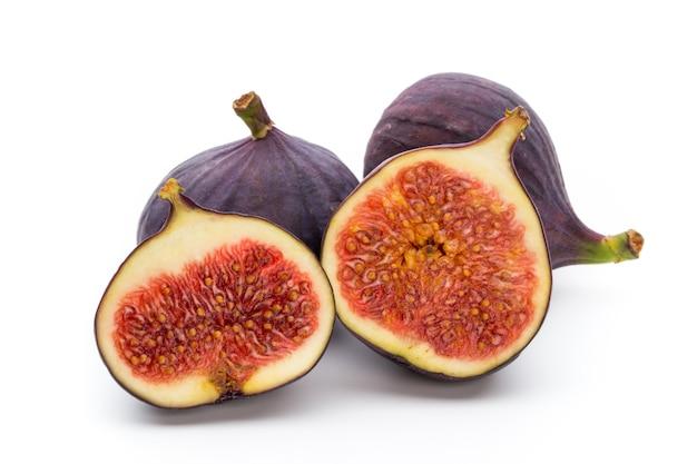 Figi owoce na białym tle.