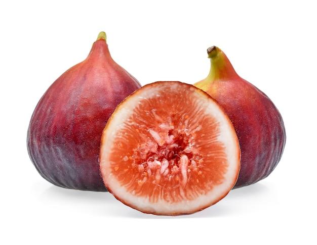 Figi owoce na białym tle