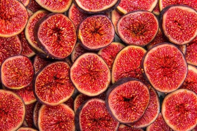 Figi plastry owoców tło