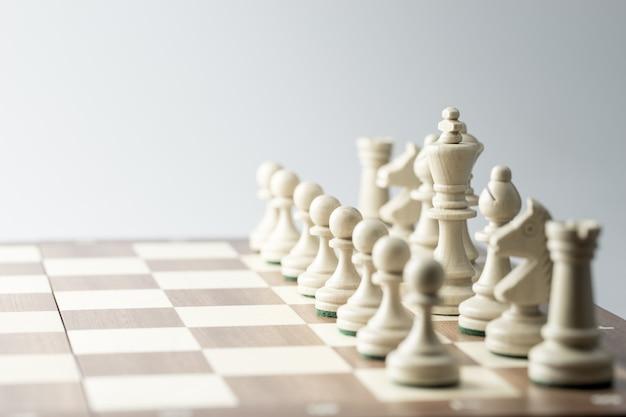 Figura szachowa, strategia biznesowa, przywództwo, zespół i sukces