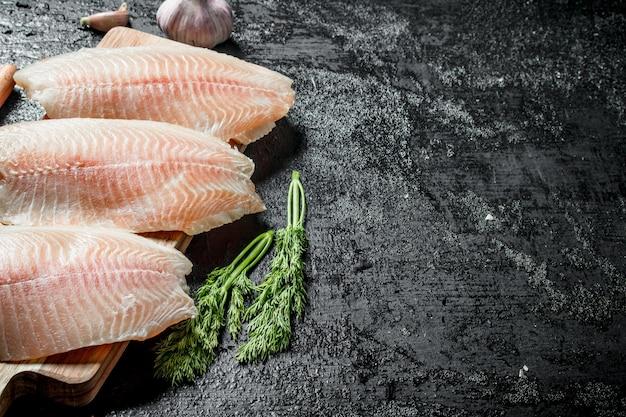 Filet z ryby tilapia z koperkiem.