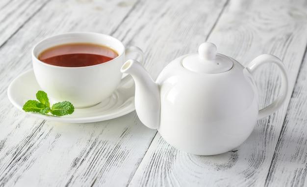 Filiżanka czarnej herbaty
