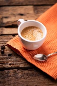 Filiżanka kawy espresso z bliska