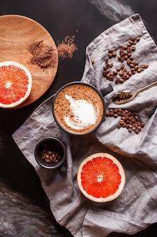 Filiżanka kawy moka, widok z góry