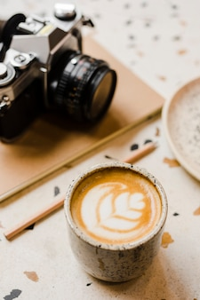 Filiżanka kawy z bliska