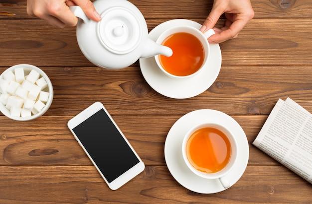 Filiżanka porannej herbaty