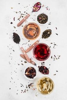 Filiżanki z herbatą
