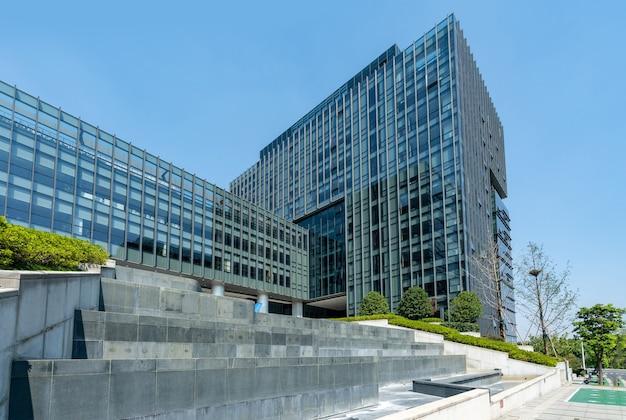 Financial center plaza i architektura, nanjing, chiny