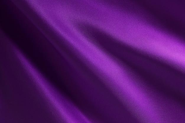 Fioletowa faktura tkaniny i projekt dzieła sztuki, piękny zmięty wzór jedwabiu lub lnu.