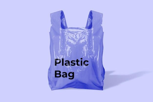 Fioletowa plastikowa torba na zakupy