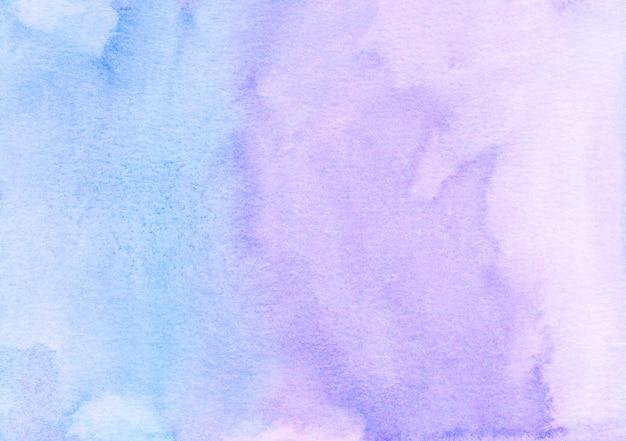 Fioletowe i niebieskie tło powierzchni akwarela