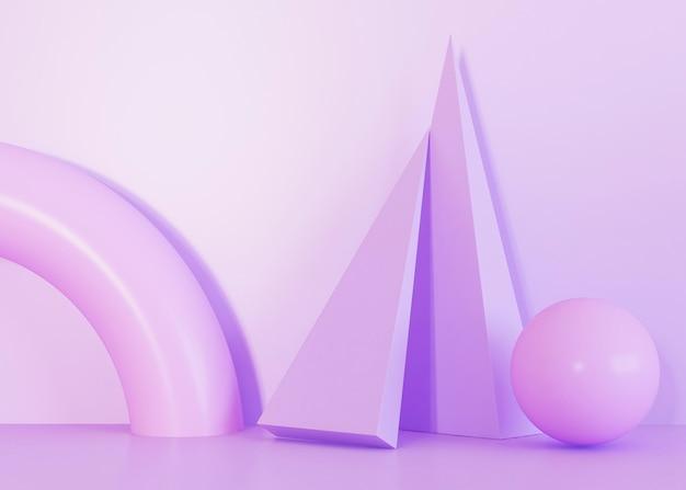Fioletowe odcienie tła kształtów geometrycznych
