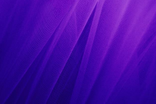 Fioletowe tiulowe draperie teksturowane tło