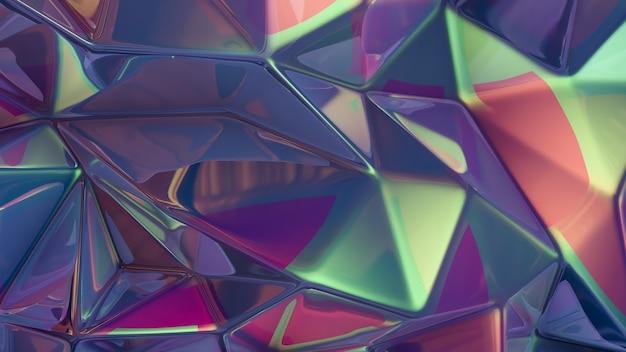 Fioletowe tło kryształu. ilustracja, renderowanie 3d.