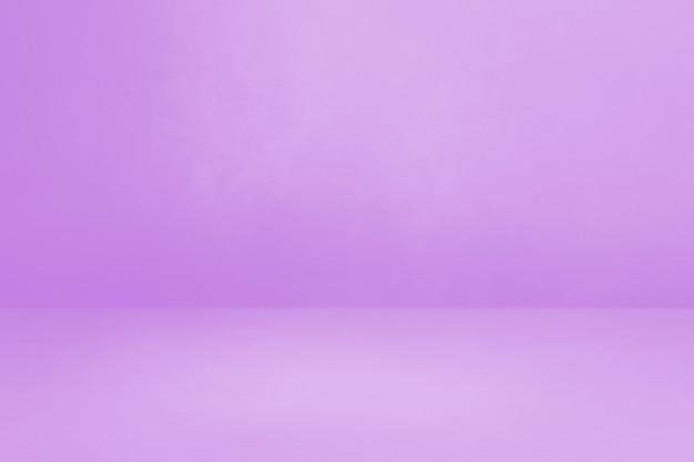 Fioletowe tło wnętrza betonu. pusta scena szablonu