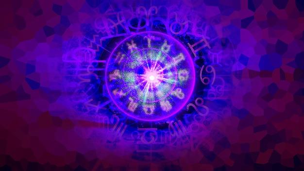 Fioletowy astrologia zodiak horoskop wzór tekstury tła, projekt graficzny