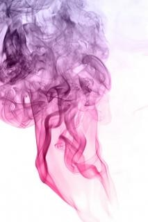 Fioletowy dym parowy