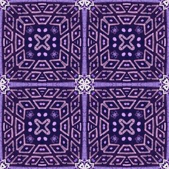 Fioletowy fioletowy dachówka tło. wzór.