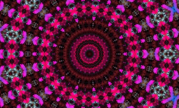 Fioletowy kalejdoskop w formie oka, abstrakcyjny wzór surrealistyczny, mocny, intensywny, dynamiczny i mocny, na banery, plakaty, ulotki, tapety, zaproszenia, tła, reklamy