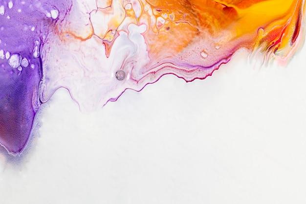 Fioletowy płyn sztuka tło diy abstrakcyjna płynna tekstura