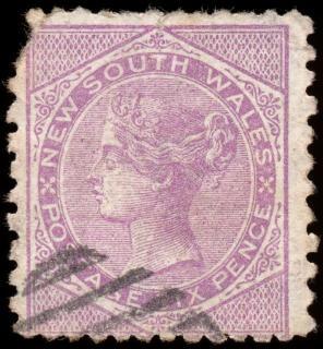 Fioletowy queen victoria znaczek biały