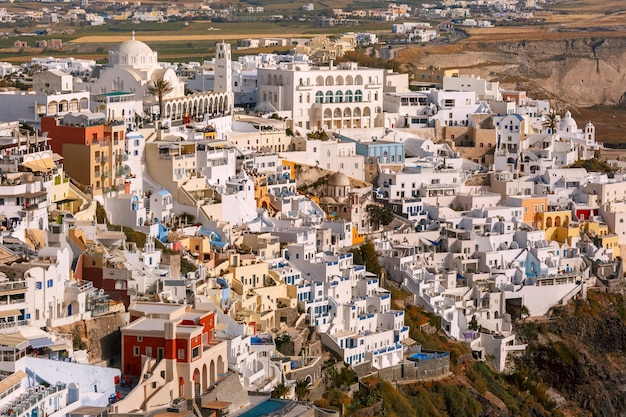 Fira, główne miasto santorini, grecja