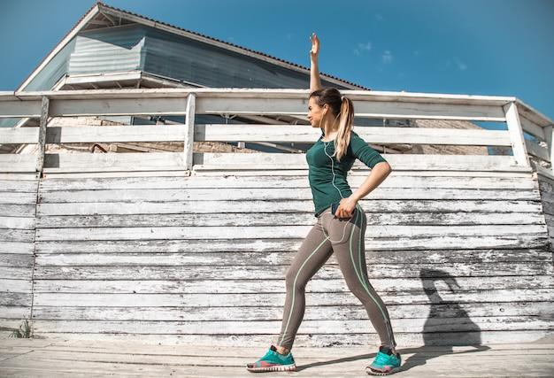 Fitness sportowy dziewczyna
