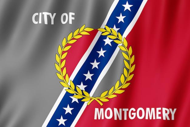 Flag of montgomery city, alabama (usa)