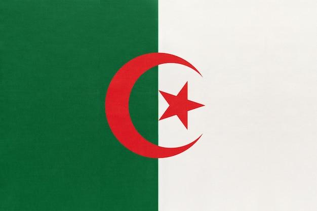 Flaga algierii tkanina narodowa tkanina tekstylna