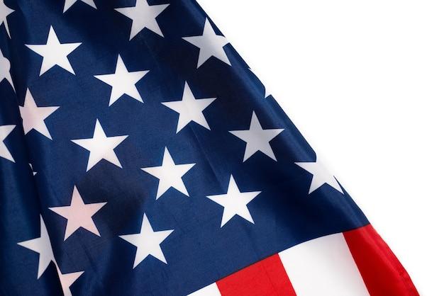 Flaga amerykańska jako tło. widok z góry.
