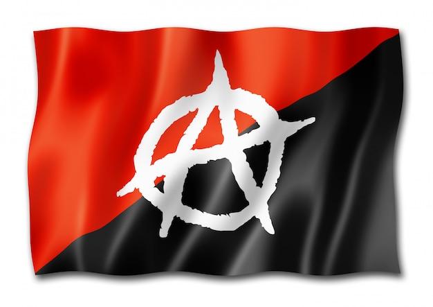 Flaga anarchii na białym tle