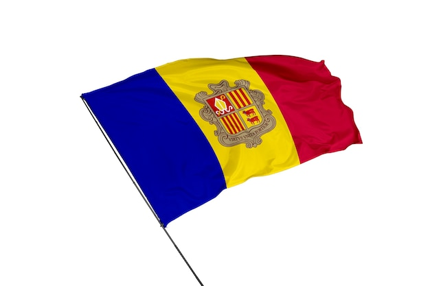 Flaga andory na białym tle