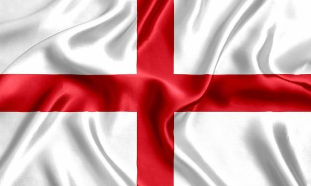 Flaga anglii jedwabny szczegół tło