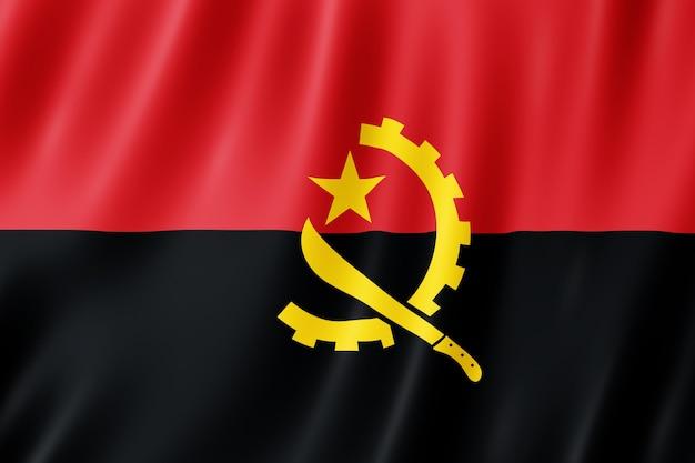 Flaga angoli macha na wietrze.