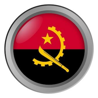 Flaga angoli okrągła jako guzik