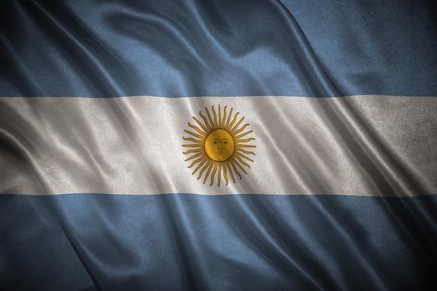 Flaga argentyny w tle