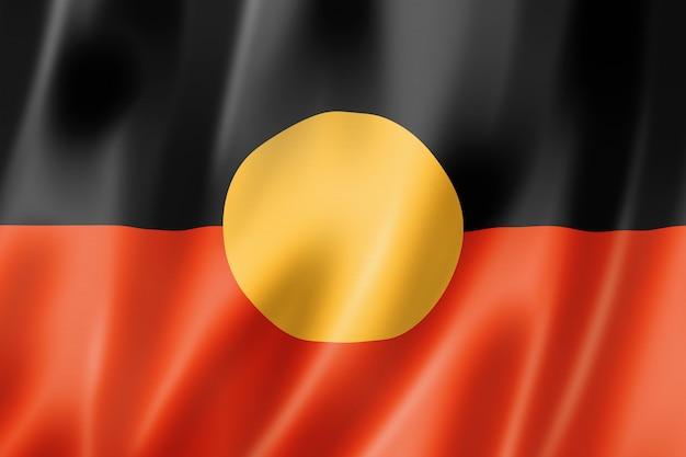 Flaga australii aborygenów