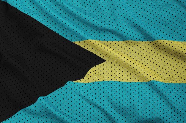 Flaga bahamów nadrukowana na nylonowej siatce odzieży sportowej z poliestru