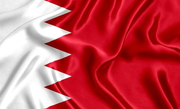Flaga bahrajnu jedwabiu szczegół tło