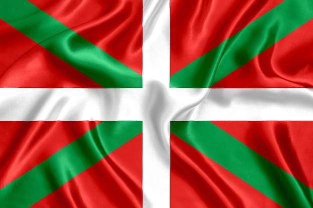 Flaga baskijski szczegół jedwabiu szczegół tło
