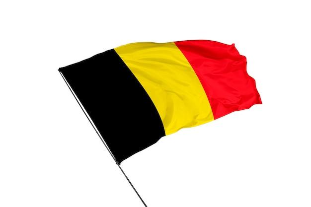 Flaga belgii na białym tle