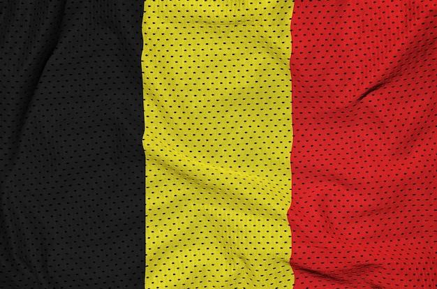 Flaga belgii wydrukowana na siatce z nylonu poliestrowego
