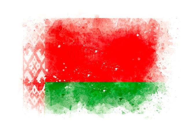 Flaga białorusi jako ilustracja akwarela