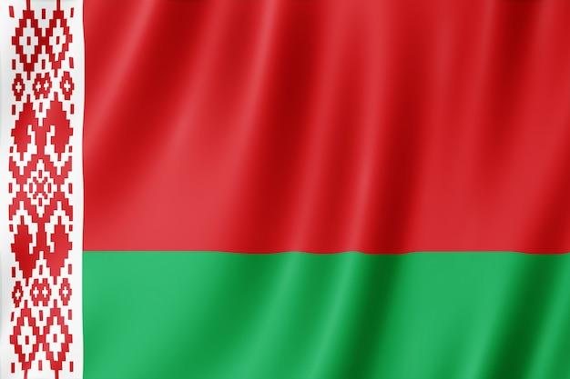 Flaga białorusi na wietrze.
