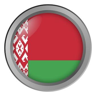 Flaga białorusi okrągła jak guzik