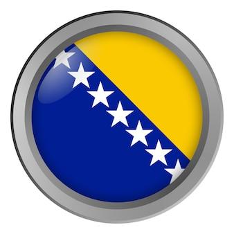 Flaga bośni i hercegowiny okrągła jako guzik