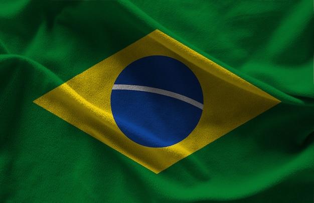 Flaga brazylii tkaniny